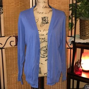 Sky Blue Long Cardigan Sweater